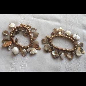 2pc Shell bracelets